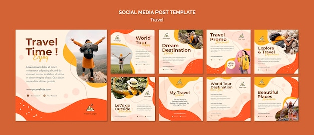 Travel social media post Premium Psd
