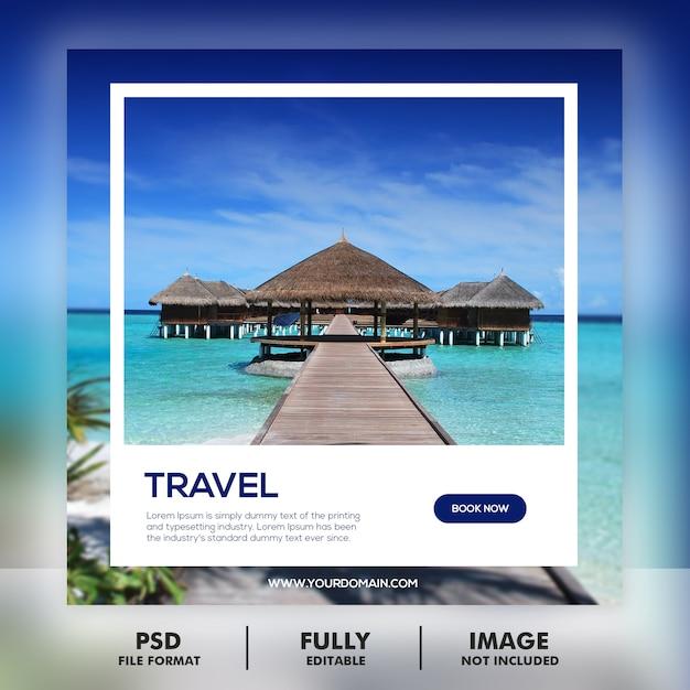 旅行ツアーの投稿テンプレート Premium Psd