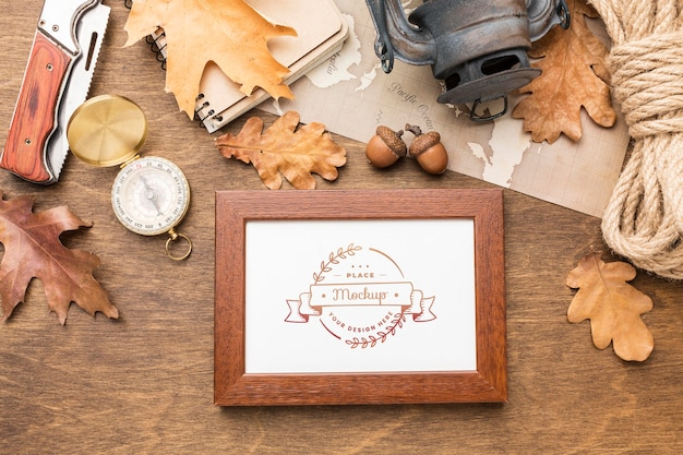 Traveling tools and frame Free Psd