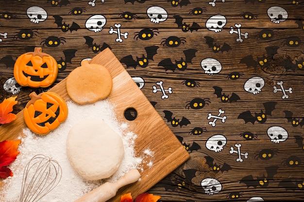 Treats dough and baking process Free Psd