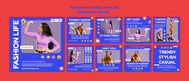 Trendy casual fashion life instagram post template Free Psd