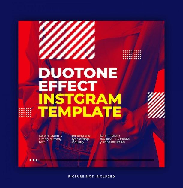 Красный динамический эффект trendy duotone с холодным элементом Premium Psd