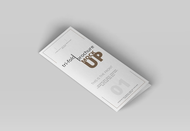 Tri-fold brochure mock-up Premium Psd