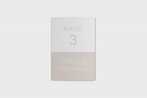 Тройная брошюра psd макет Premium Psd