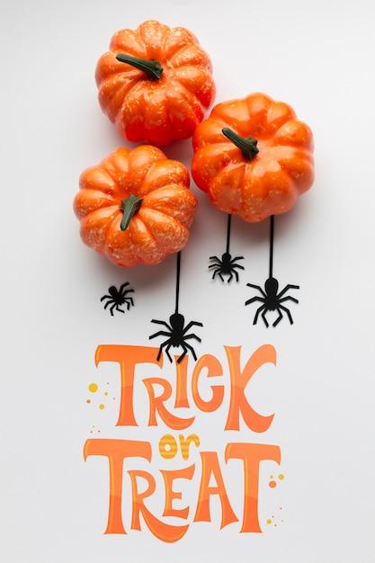 Trick or treat on halloween day celebration Free Psd