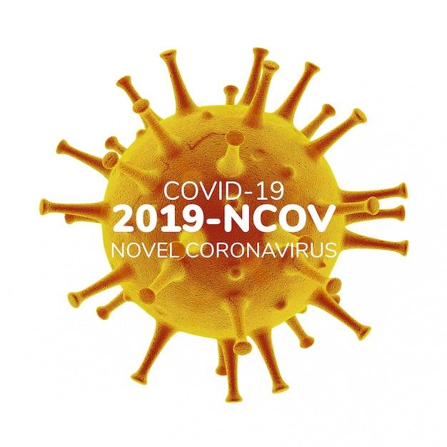 Трехмерная иллюстрация коронавируса Premium Psd