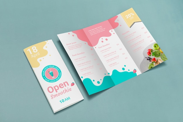 Макет концепции брошюры trifold Premium Psd