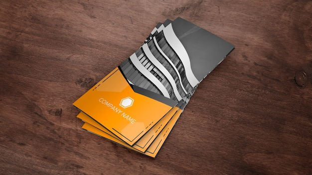 Trifold brochure mockup as stack Free Psd