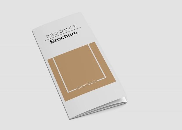 3つ折りパンフレットのモックアップ Premium Psd