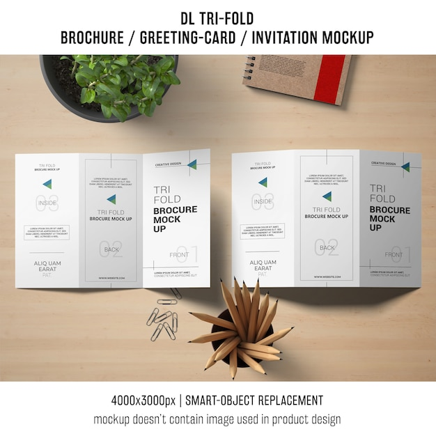 Trifold brochure or invitation mockup still life concept psd file trifold brochure or invitation mockup still life concept free psd stopboris