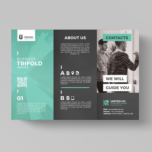 Trifold Business Brochure Template Psd File Premium Download