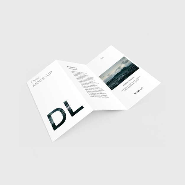 Trifold template design Free Psd