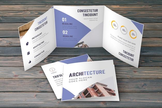 Trifold макет бизнес брошюры Бесплатные Psd
