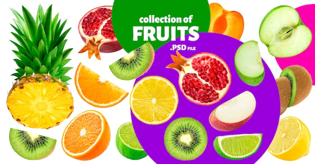Тропические фрукты Premium Psd