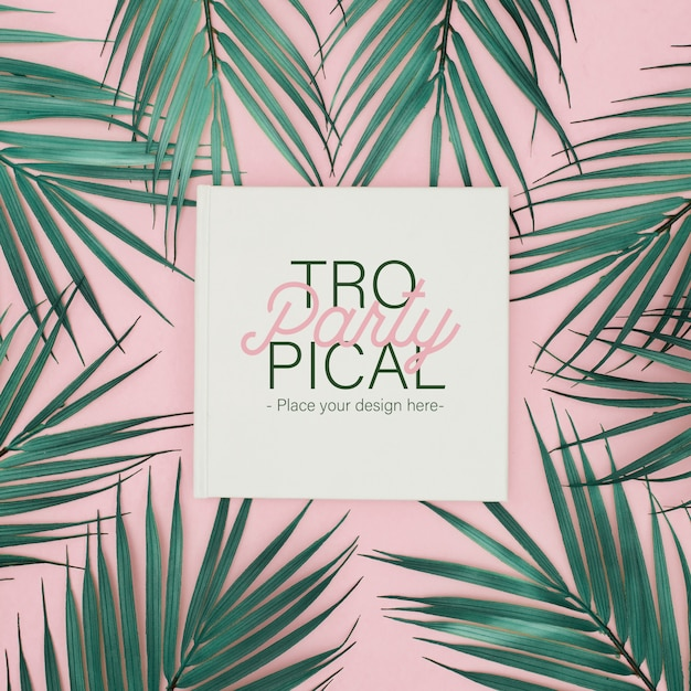 Tropical party template Free Psd
