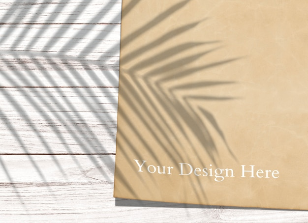 Тропический винтажный бумажный макет Бесплатные Psd