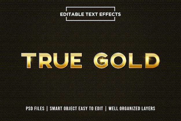 True goldテキスト効果 Premium Psd