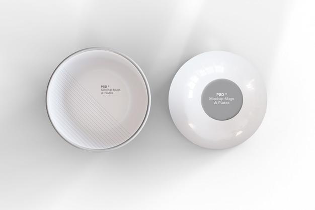 Two blank bowls mockup Premium Psd