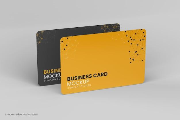 分離された2つのビジネスカードのモックアップデザイン Premium Psd