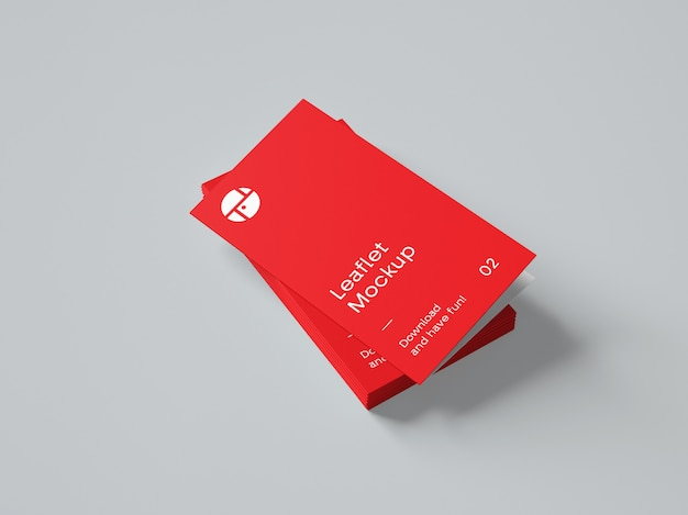 2つ折りパンフレットモックアップ Premium Psd