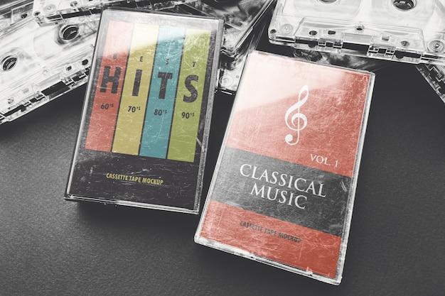 Cassette Tape Box Template from image.freepik.com