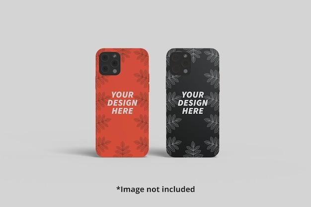 正面から見た2つの電話ケーシングのモックアップ Premium Psd