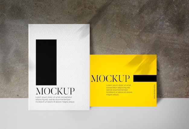 Two posters with shadows mockup Free Psd