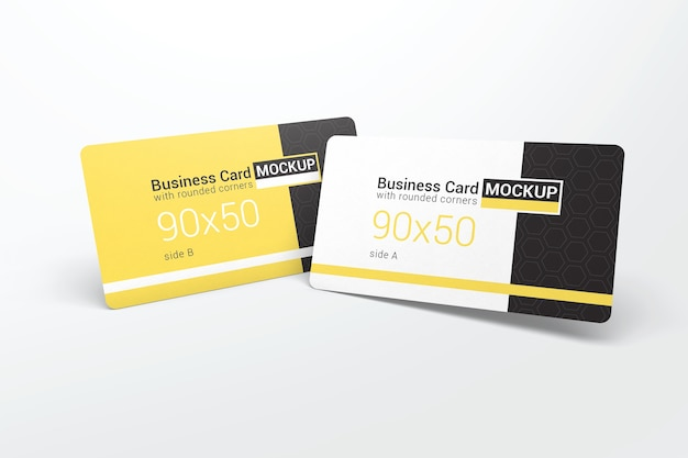 Two realistic business card mockups Premium Psd