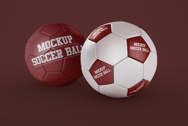Two soccer ball mockup Premium Psd
