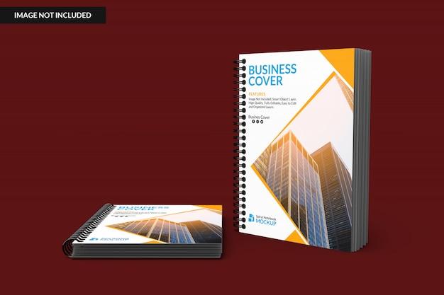 두 개의 나선형 노트북을 모의 프리미엄 PSD 파일