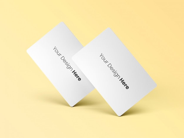 Two standing business cards minimal Premium Psd