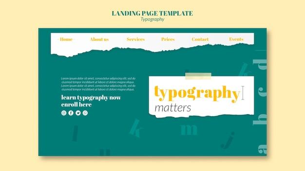 Шаблон целевой страницы службы типографии Бесплатные Psd
