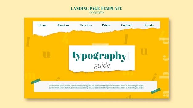 Modello di pagina di destinazione del servizio di tipografia Psd Gratuite