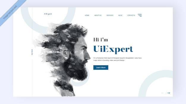 Целевая страница эксперта ui Premium Psd