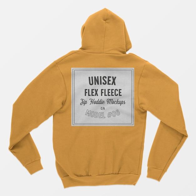 ユニセックスフレックスフリースジップフーディーモックアップ06 無料 Psd