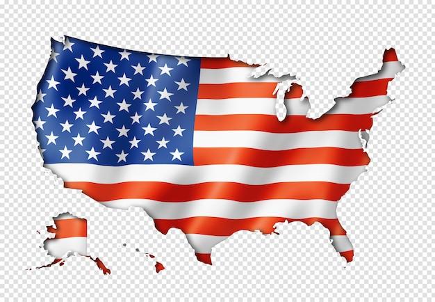Карта флага соединенных штатов Premium Psd