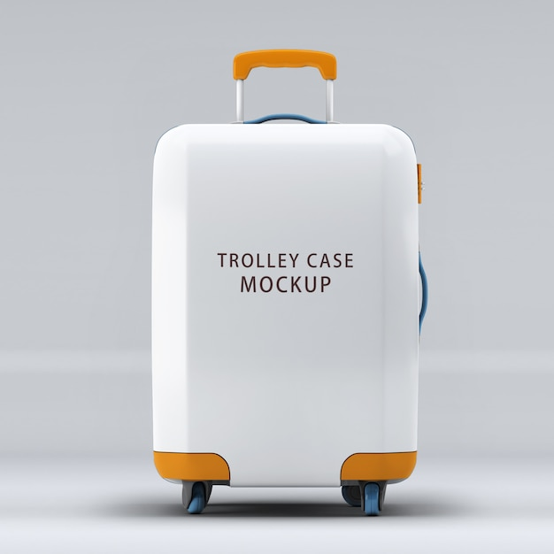 Universal wheel trolley case or luggage mockup isolated Premium Psd