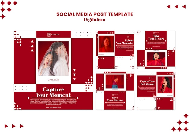 Upload your best moment social media post Free Psd