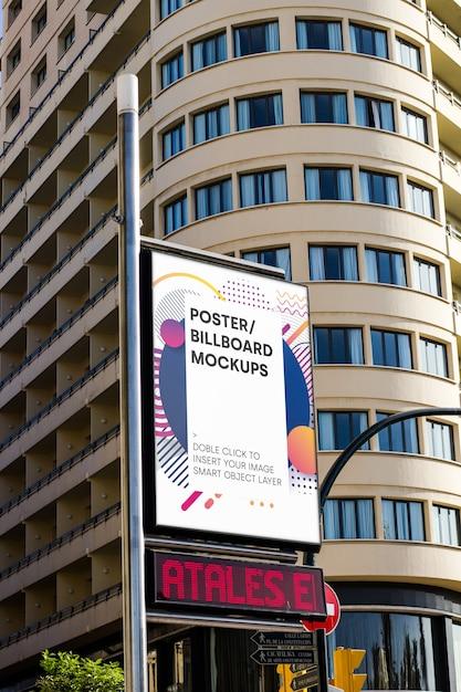 Urban billboard mockup Free Psd