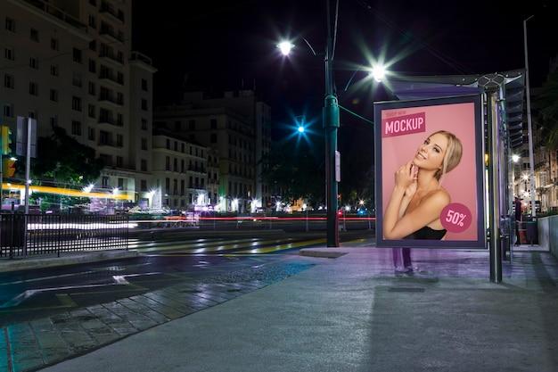기호 모형으로 도시 도시의 불빛 무료 PSD 파일