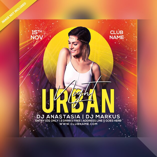 Urban night party flyer Premium Psd