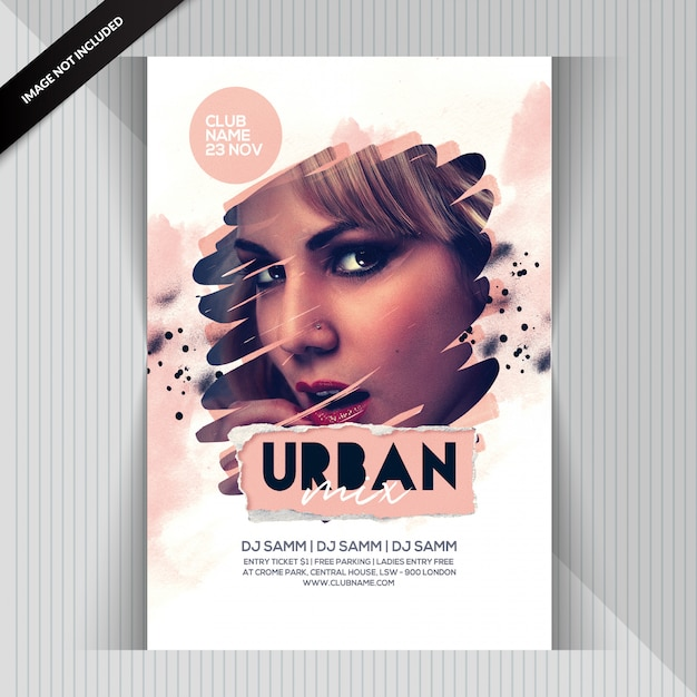 Urban party flyer Premium Psd