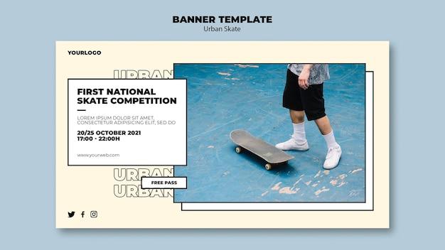 Modello di banner concetto di skate urbano Psd Gratuite