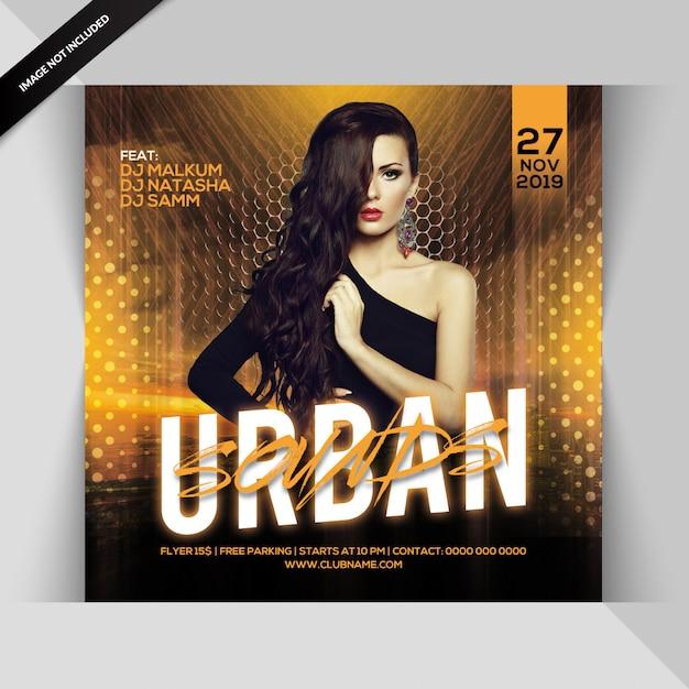 Urban sounds party flyer Premium Psd
