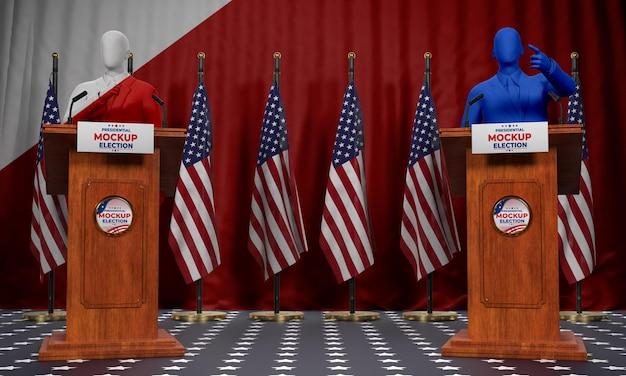 미국 선거 개념 모형 무료 PSD 파일