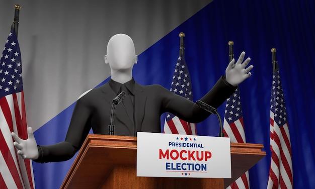 Макет концепции выборов в сша Бесплатные Psd