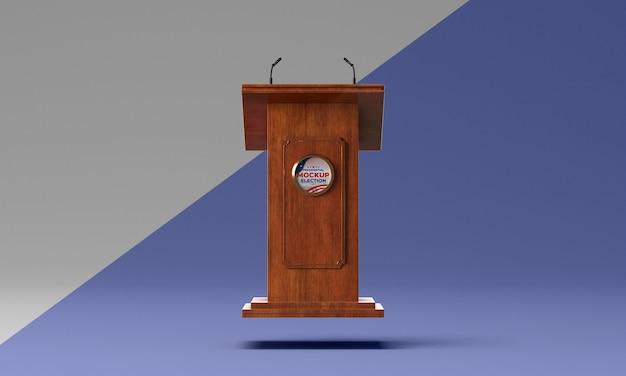 Mock-up del concetto di elezioni americane Psd Gratuite