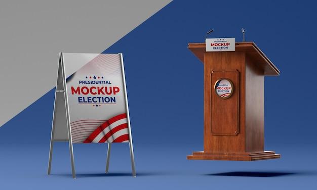 미국 선거 개념 모형 프리미엄 PSD 파일