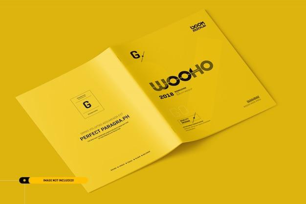Usレターパンフレットモックアップ Premium Psd