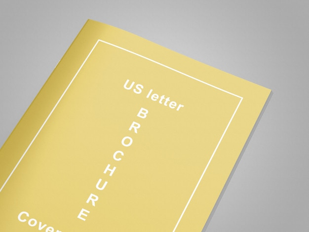 Нас письмо журнал / макет брошюры Premium Psd